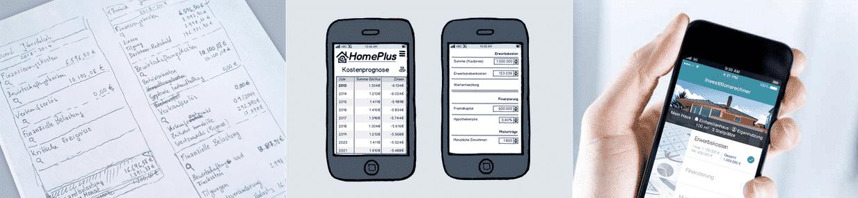Prozess einer App Entwicklung - Skizze, Dummy, fertige App